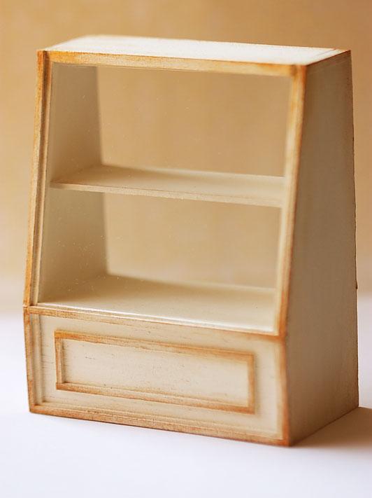Dollhouse Miniature 1/12th Scale Antique White Cake Shelf