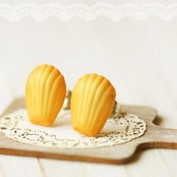 Food Earrings - French Madeleine Earring Studs
